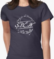 Harry Potter 'SPEW' design Womens Fitted T-Shirt