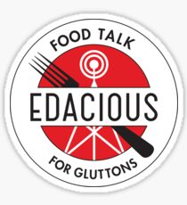 Edacious - Food Talk for Gluttons Sticker