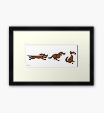 Dog Run sequential art Framed Print