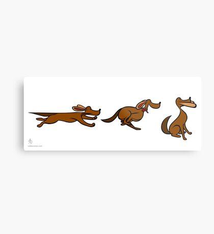 Dog Run sequential art Metal Print