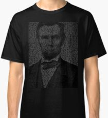 Arbraham Lincoln - Gettysburg Address Classic T-Shirt