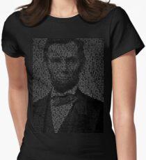 Arbraham Lincoln - Gettysburg Address Women's Fitted T-Shirt