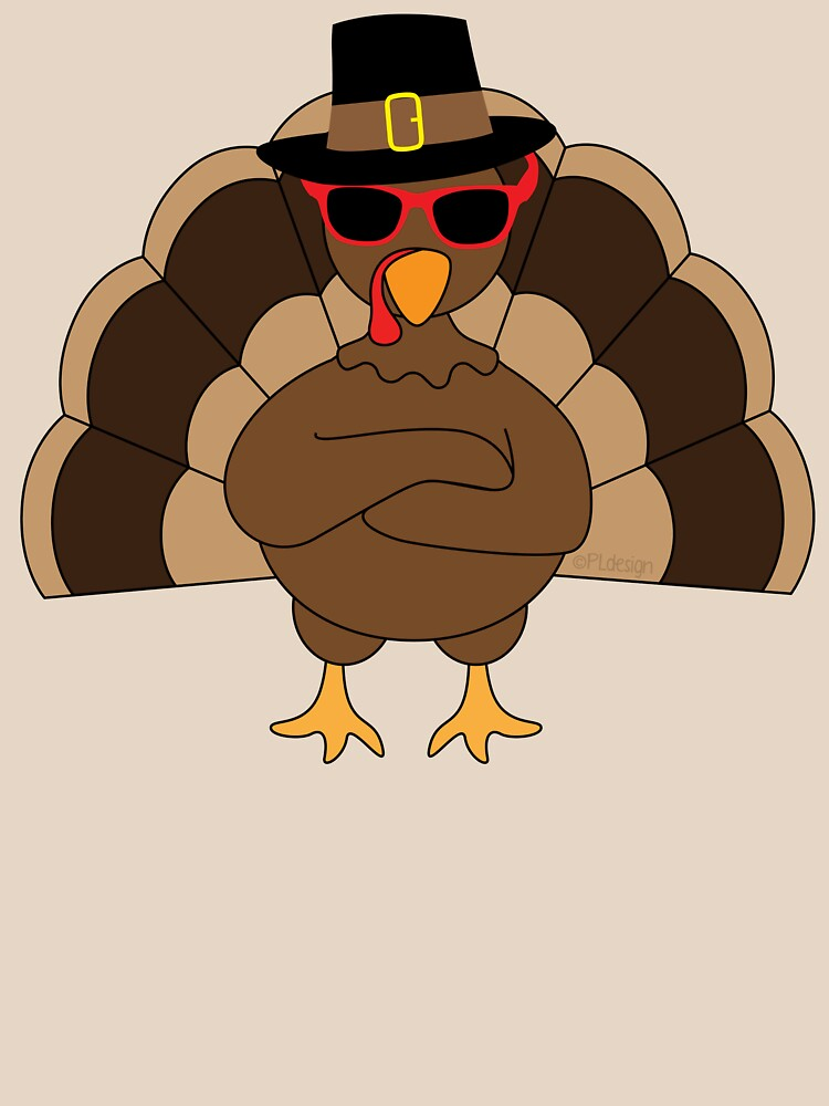 Cool Turkey with sunglasses Happy Thanksgiving by PLdesign