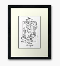 The Suicide King  Framed Print