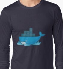 Docker Moby Whale Long Sleeve T-Shirt