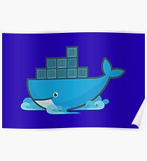 Docker Moby Whale Poster