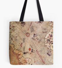 Piri Reis Map Tote Bag