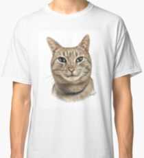 Colour Pencil Portrait of Opal the Cat Classic T-Shirt
