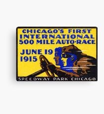 1915 Chicago Auto Race Canvas Print