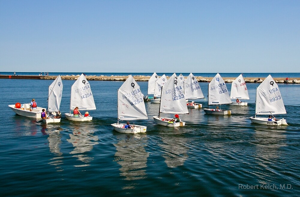 Junior Sailing Club, Lake Macatawa Yacht Club, Holland, MI by Robert Kelch, M.D.