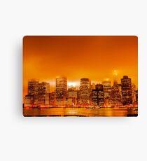 Under A Blood Red Sky - New York Skyline Canvas Print