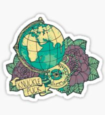 Knuckle Puck Globe Sticker