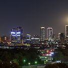 Supermoon Over Downtown Fort Worth by josephhaubert
