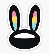 Pogo Space Bunny Black Sticker