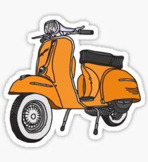 Vespa Illustration - Orange Sticker