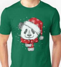 Panda Christmas with hat and scarf T-Shirt