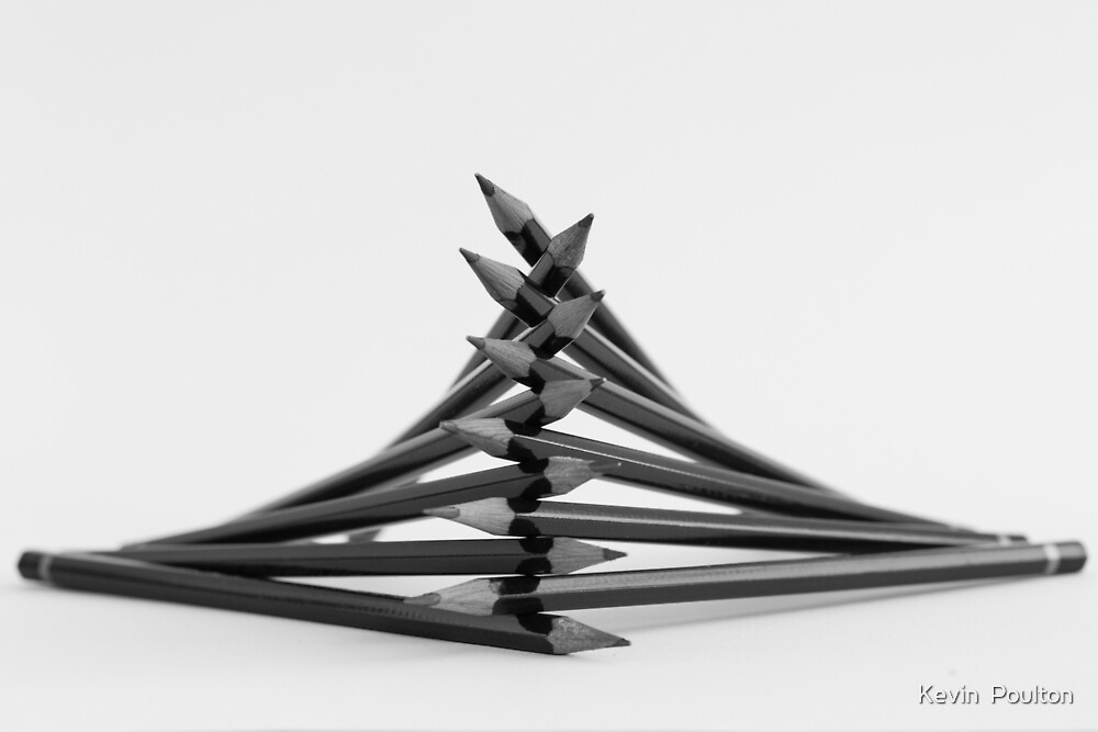 Pencil Tower by Kevin  Poulton