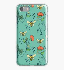 Bees and Flowers iPhone Case/Skin