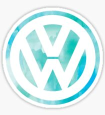 Watercolor Volkswagen logo  Sticker