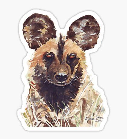 African Wild Dog Sticker