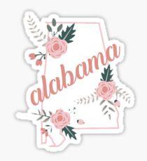 Alabama Flower State Sticker