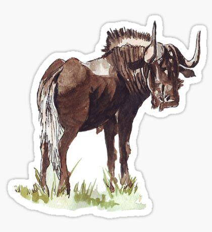 Black Wildebeest (Connochaetes gnou) Sticker