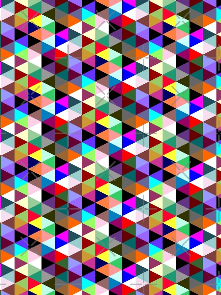 Colorful triangle pattern by siyi