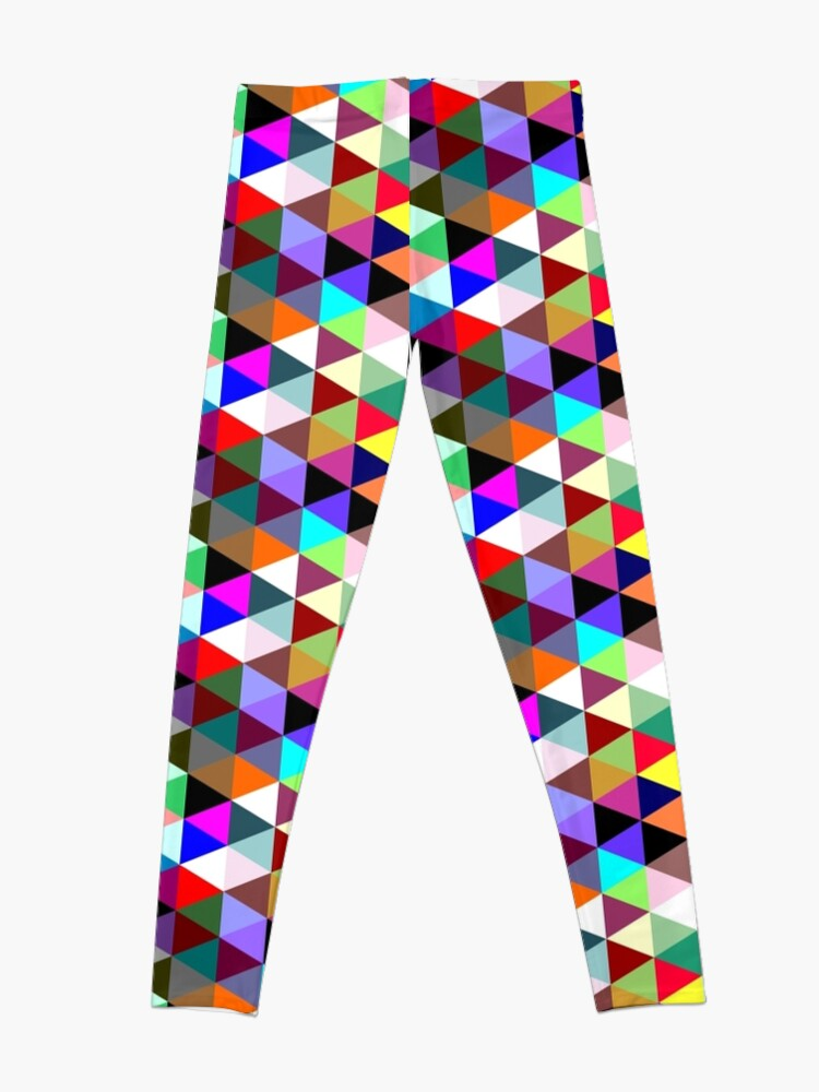 Alternate view of Colorful triangle pattern Leggings