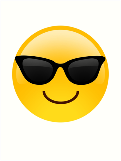 cool guy emoji art prints by enemity redbubble