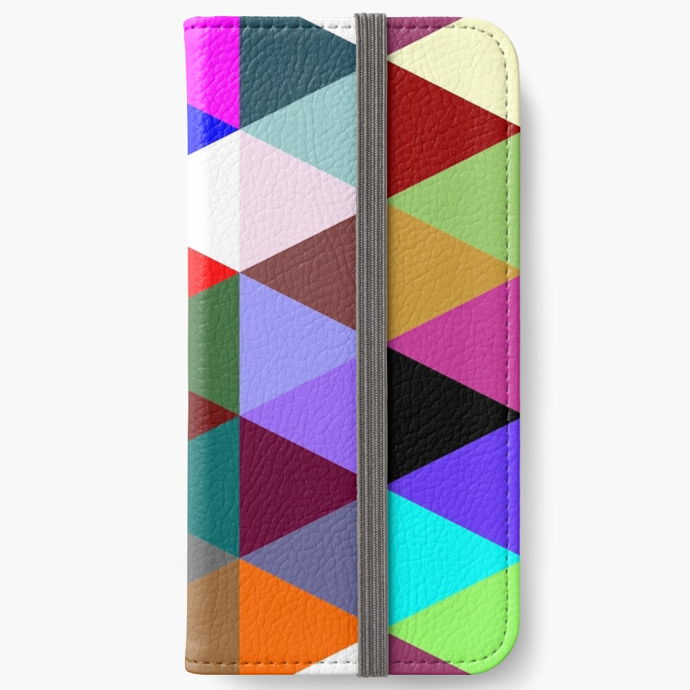 Colorful triangle pattern iPhone Wallet