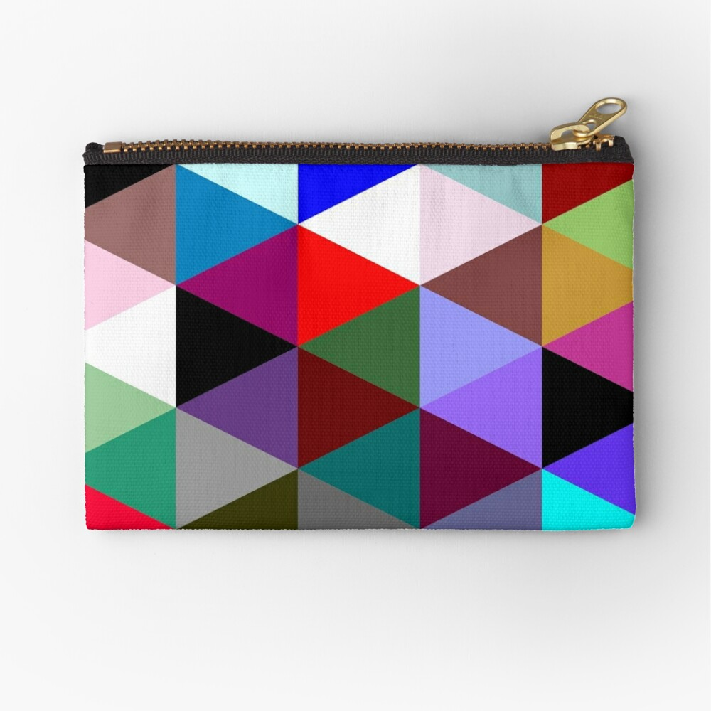 Colorful triangle pattern Zipper Pouch