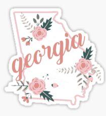 Georgia Floral State Sticker