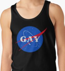 Nasa-Gay-Pride-Logo Tank Top