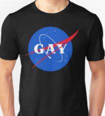 Nasa-Gay-Pride-Logo Slim Fit T-Shirt