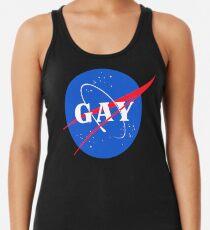 Nasa Gay Pride Logo Racerback Tank Top