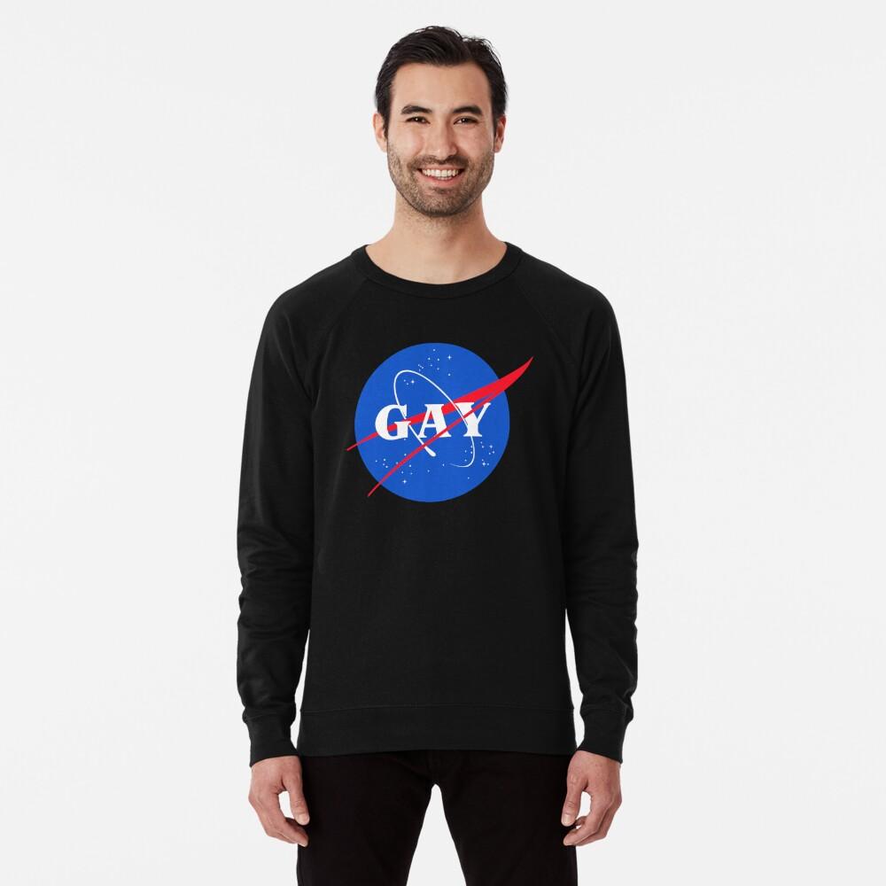 Nasa-Gay-Pride-Logo Leichter Pullover