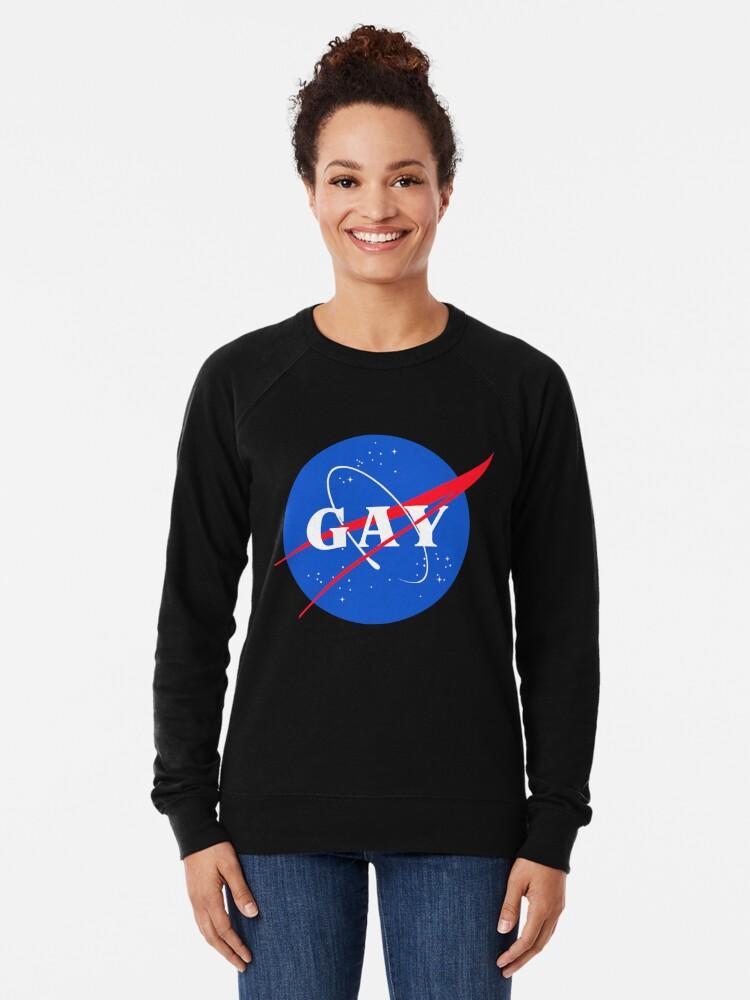 Alternative Ansicht von Nasa-Gay-Pride-Logo Leichter Pullover