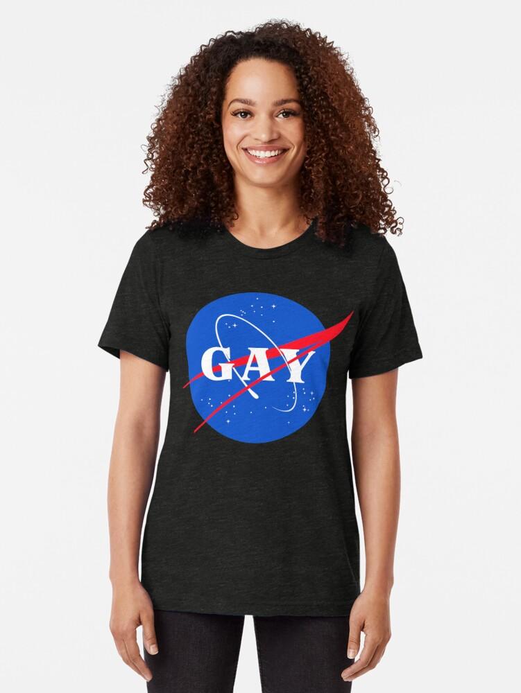 Alternative Ansicht von Nasa-Gay-Pride-Logo Vintage T-Shirt