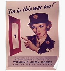 Vintage poster - Women's Army Corps Poster