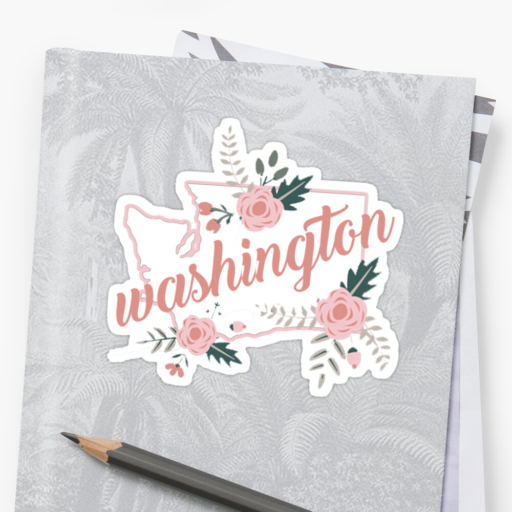 Washington Blumen Sticker