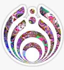 Bassnectar logo- trippy background  Sticker