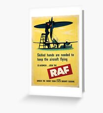 Vintage poster - Royal Air Force Greeting Card
