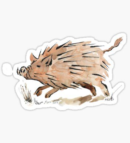 Warthog sketch Sticker