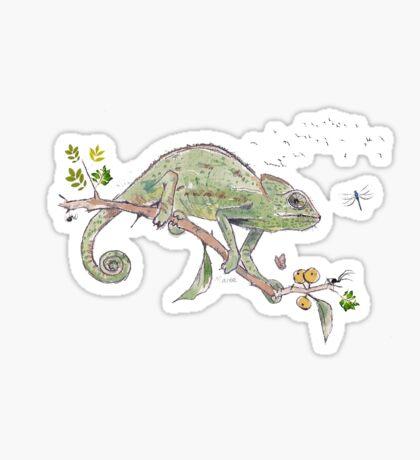 The colourful world of Chameleons Sticker