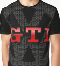 VW GTI Pattern Graphic T-Shirt