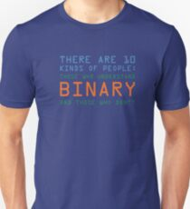 Funny Computer Nerd T-shirt, Binary Code Geek by Zany Brainy Unisex T-Shirt