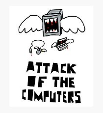 Attack of the Computers tee Photographic Print