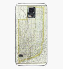 Vintage Map of Nebraska (1889)  Case/Skin for Samsung Galaxy