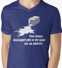 The inner machinations of my mind are an enigma Men's V-Neck T-Shirt
