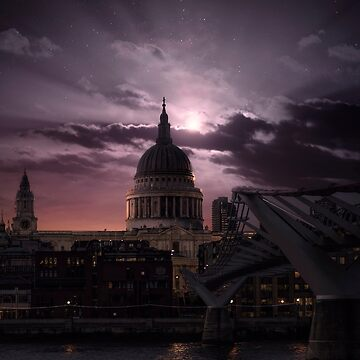 St Pauls Cathedral in the Moonlight, London UK by amorphousbeing